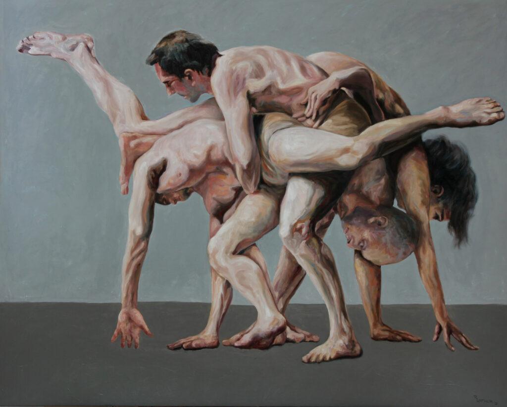 """Tanztheater 01""; Öl auf Leinwand; 160cm x 200cm; 2020"